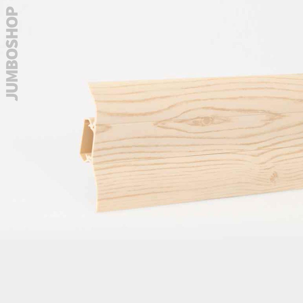 sockelleisten 2 5m fussleisten aus kunststoff mit kabelkanal gummilippen top ebay. Black Bedroom Furniture Sets. Home Design Ideas