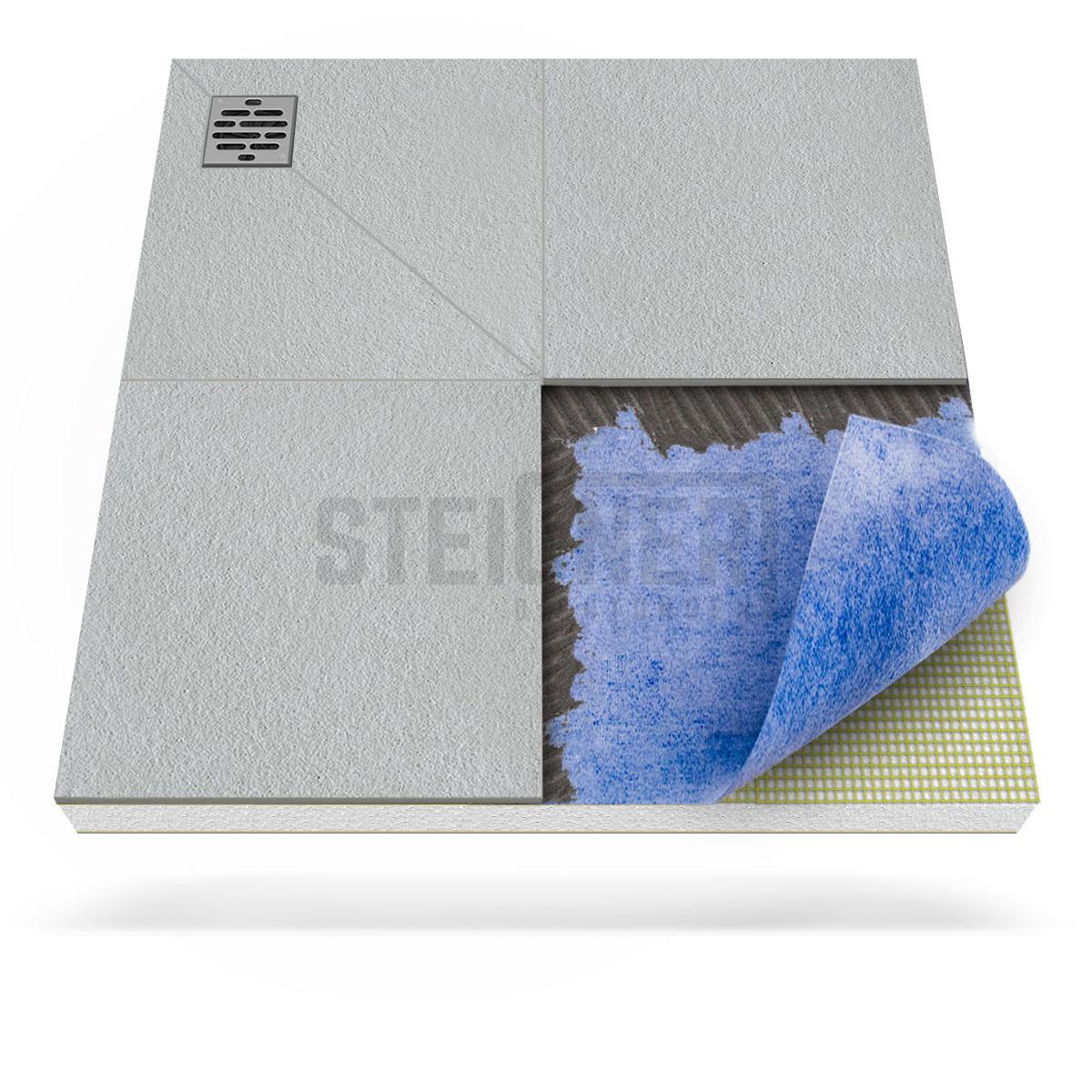 duschkabine duschelement ablauf dezentral duschboard befliesbar bodeneben ebay. Black Bedroom Furniture Sets. Home Design Ideas
