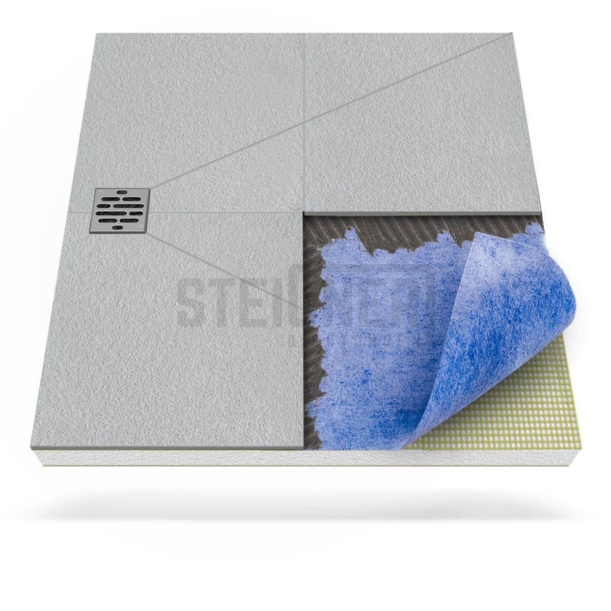 Duschkabine duschelement ablauf dezentral duschboard for Fenster 90x110