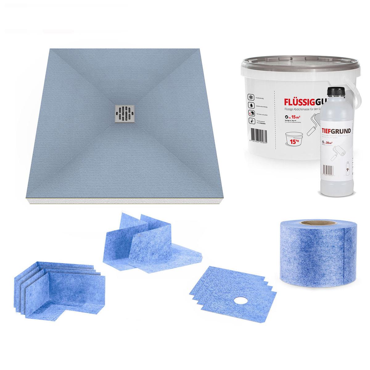 duschelement ebenerdig duschboard befliesbar duschtasse. Black Bedroom Furniture Sets. Home Design Ideas