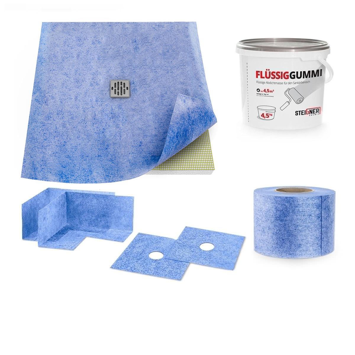 duschelement ebenerdig duschboard befliesbar duschtasse duschkabine edelstahl ebay. Black Bedroom Furniture Sets. Home Design Ideas