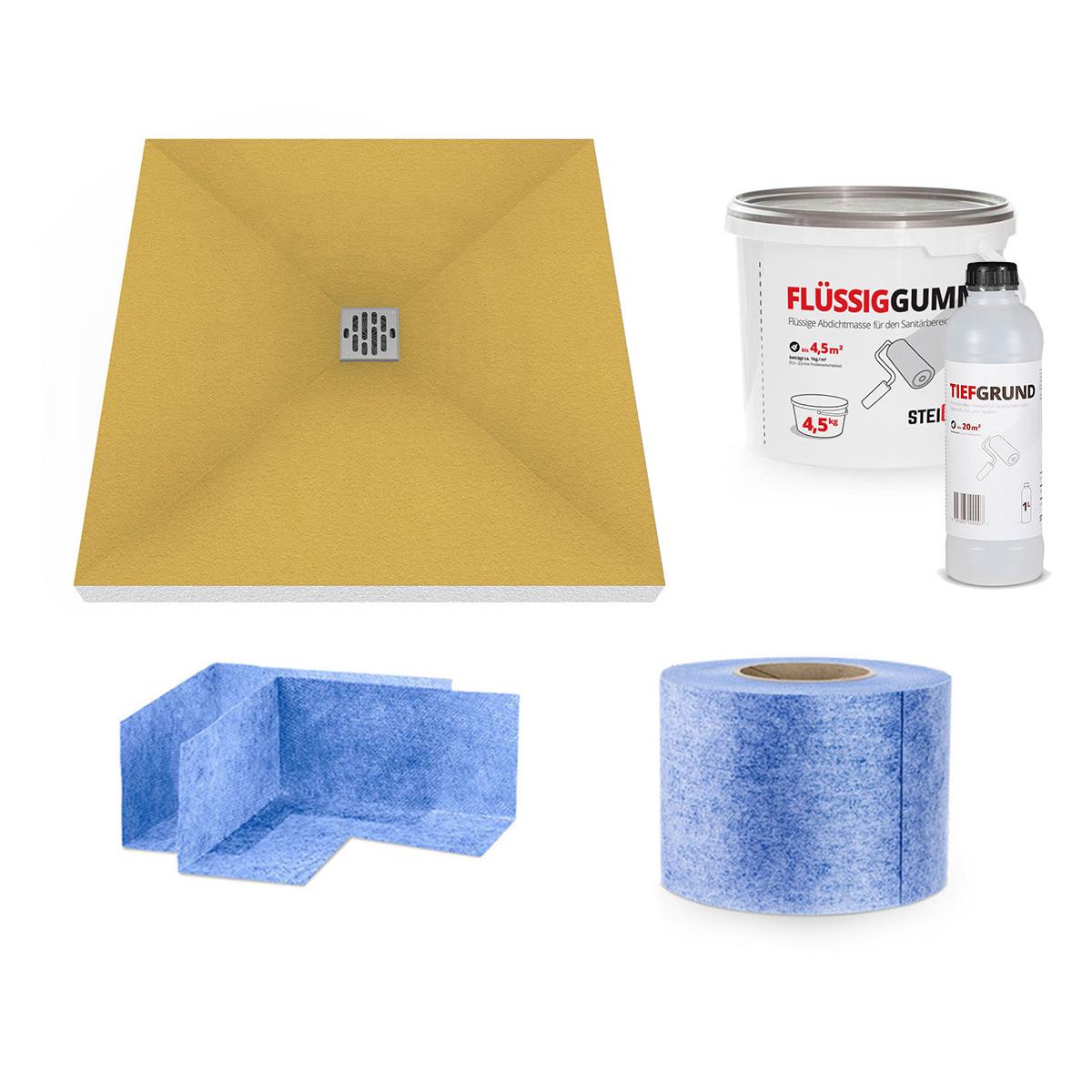 duschelement duschboard befliesbar duschtasse bodeneben. Black Bedroom Furniture Sets. Home Design Ideas
