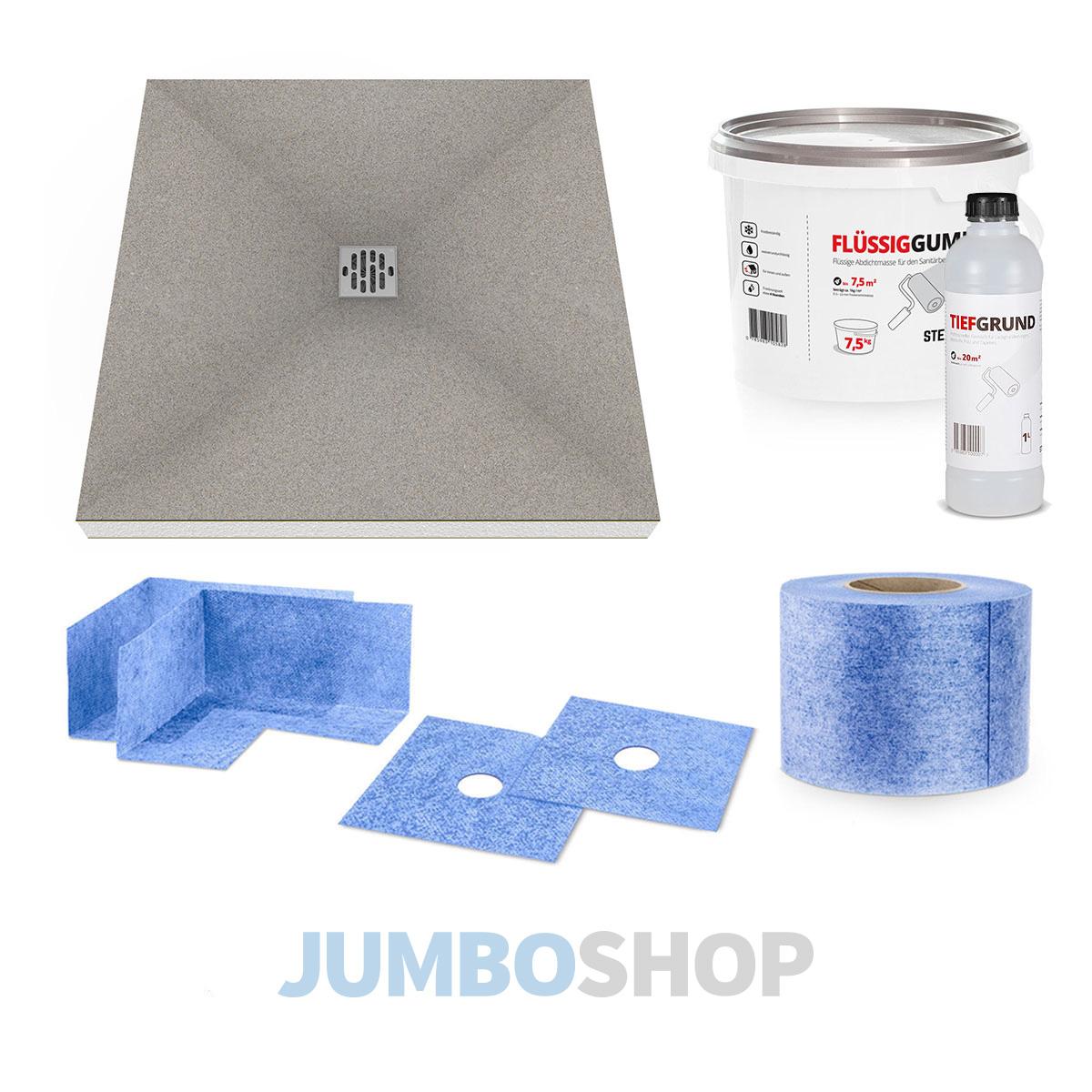 duschelement duschboard befliesbar bodeneben mit mineralischer beschichtung ebay. Black Bedroom Furniture Sets. Home Design Ideas