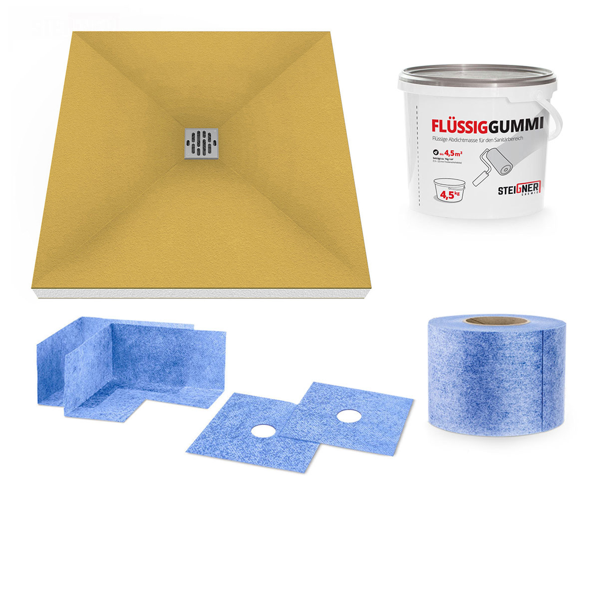 duschelement duschboard duschtasse duschwanne befliesbar bodeneben zuschneidbar ebay. Black Bedroom Furniture Sets. Home Design Ideas