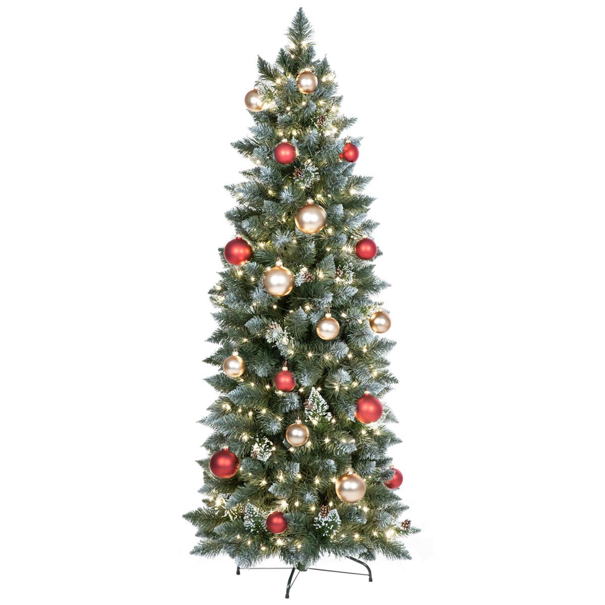 weihnachtsbaum tannenbaum kiefer weiss beschneit k nstlicher christbaum slim ebay. Black Bedroom Furniture Sets. Home Design Ideas