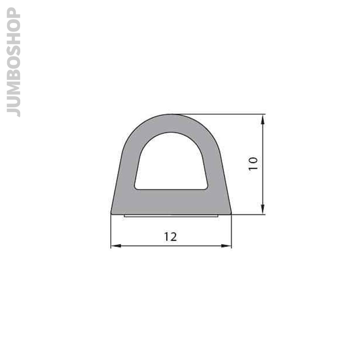 1m-Gummidichtung-Gummiprofil-Tuerdichtung-selbstklebend-Hohlkammerprofil-Moos