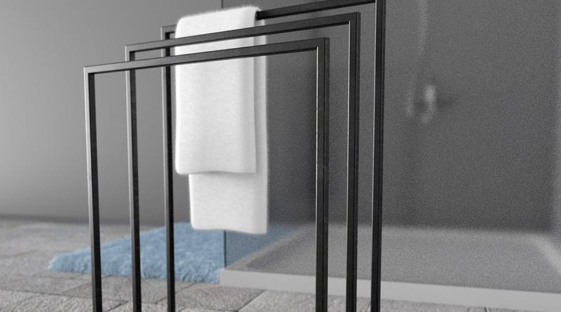 Handtuchständer 3 Badetuchstangen Handtuchhalter
