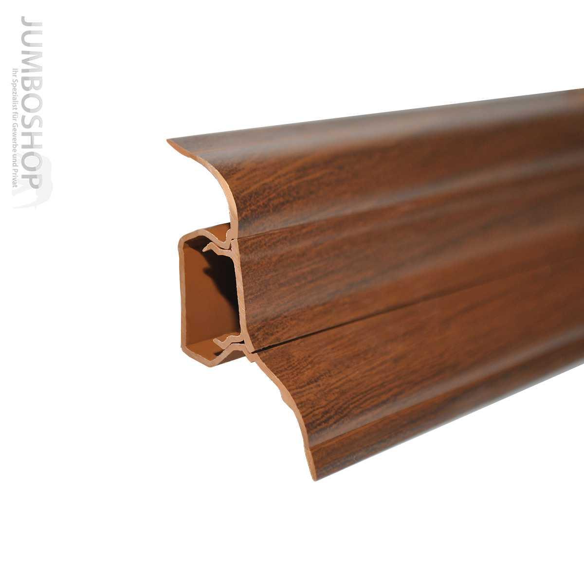 sockelleisten fussleisten 52mm x 28mm aus kunststoff monagenut