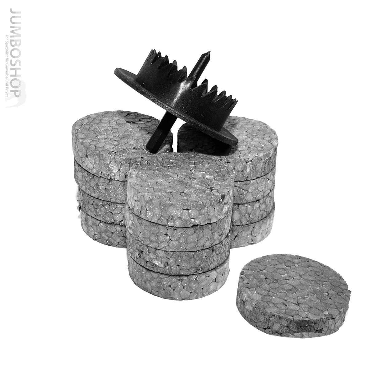 rondelle styropor graphit f r tellerd bel mit fr se wdvs. Black Bedroom Furniture Sets. Home Design Ideas