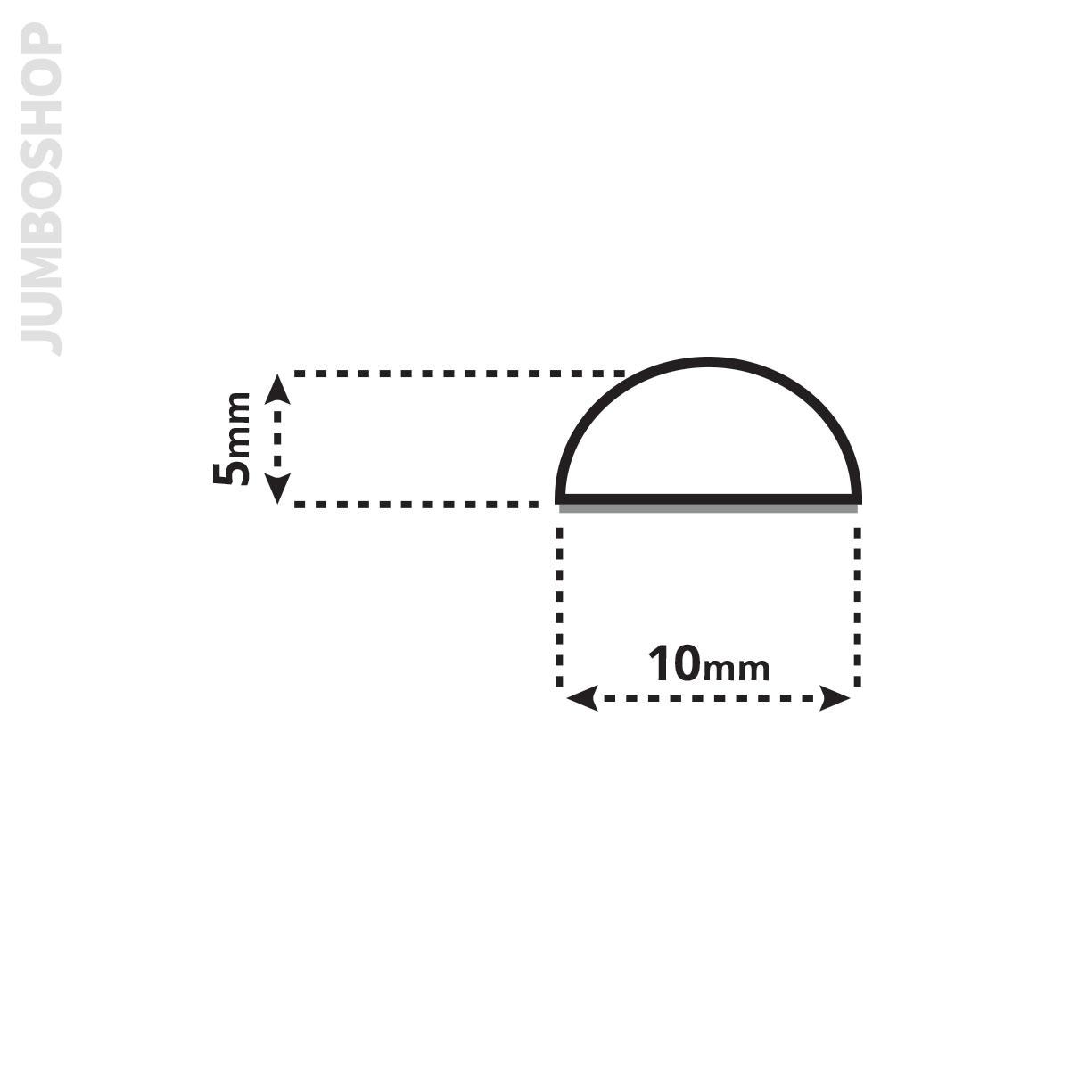 14,99€//m Schwallschutz Acryl Halbrundstab Spritzschutz Bad Dusche 7,5mm Höhe