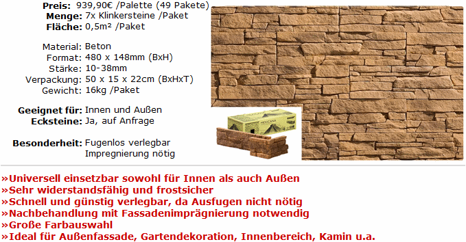 stegu 24 5m klinker steine verblender riemchen palette ebay. Black Bedroom Furniture Sets. Home Design Ideas