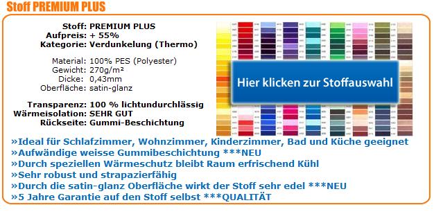 Fensterrollos Stoffwahl Premium Plus