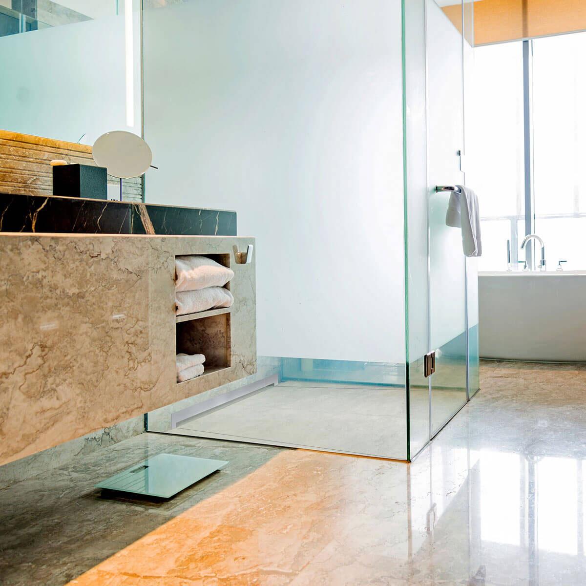 dusche bad duschelement duschboard wandablauf duschtasse befliesbar bodeneben ebay. Black Bedroom Furniture Sets. Home Design Ideas