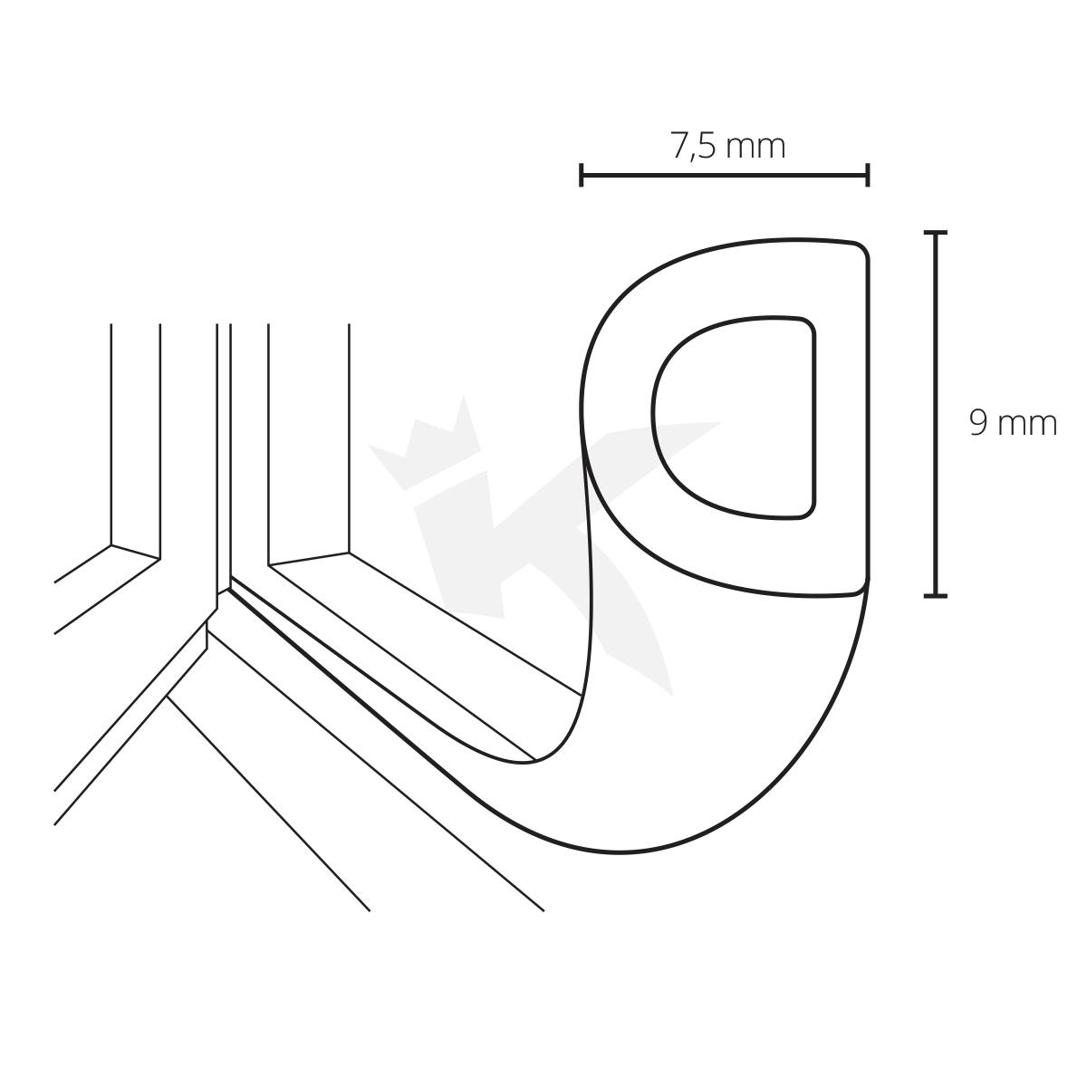 gummidichtung fensterdichtung t rdichtung selbstklebend epdm dichtband neu ovp ebay. Black Bedroom Furniture Sets. Home Design Ideas