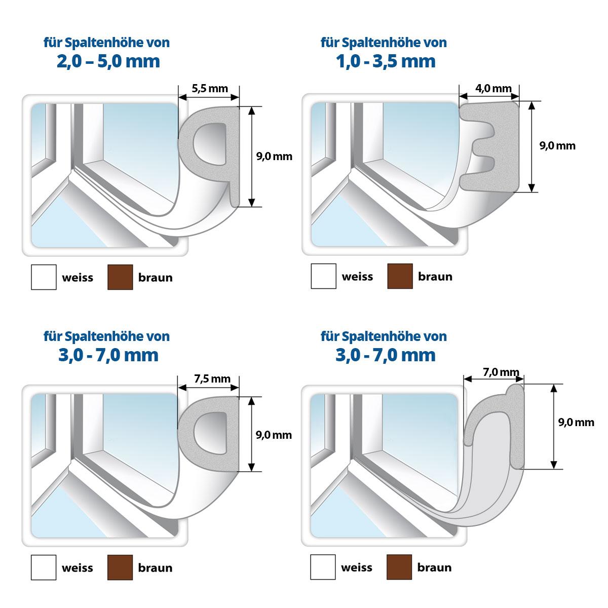 gummidichtung fensterdichtung t rdichtung selbstklebend epdm dichtungsprofil ebay. Black Bedroom Furniture Sets. Home Design Ideas