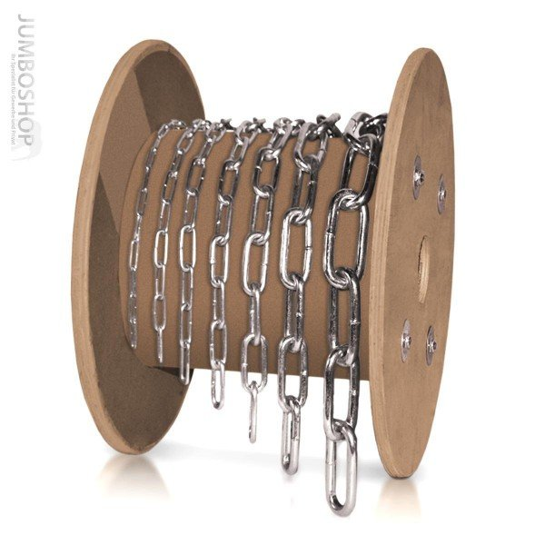 2mm Stahlkette Rundstahlkette Stahlkette LANGGLIEDRIG verzinkt
