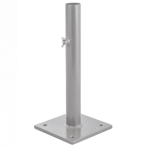 Sonnenschirmständer für Bodenhülse Innendurchmesser 29 mm Perldunkelgrau