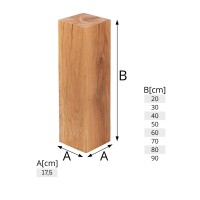 Vorschau: Dekosäule aus Eichenholz als Beistelltisch, Blumensäule oder Holzhocker