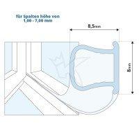 Vorschau: Silikondichtung Omegadichtung SFD01 OMEGA-Profil Dichtung