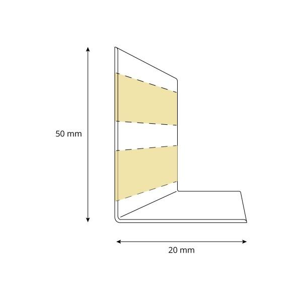 Weichsockelleiste selbstklebend SCHWARZ Knickleiste Profil 50x20mm