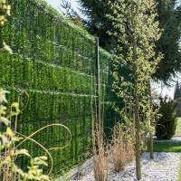 """Vorschau: Zaunblende Hellgrün """"GreenFences"""" Balkonblende für 130cm hohen Zaun / Balkon Sichtschutz Pflanzen"""