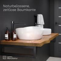 Vorschau: Waschtischplatte Holzplatte für Aufsatzwaschbecken