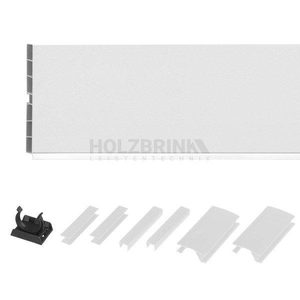 Sockelblende Küche Sockelleiste - WEISS Hochglanz - HBK Küchensockel Sockelprofil Sockelabdichtung