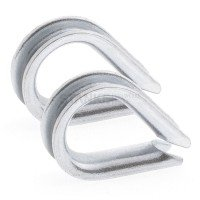 Vorschau: Rankhilfe Seilsystem SET 1: Stahlseil verzinkt + 2x Kausche + 4x Seilklemme
