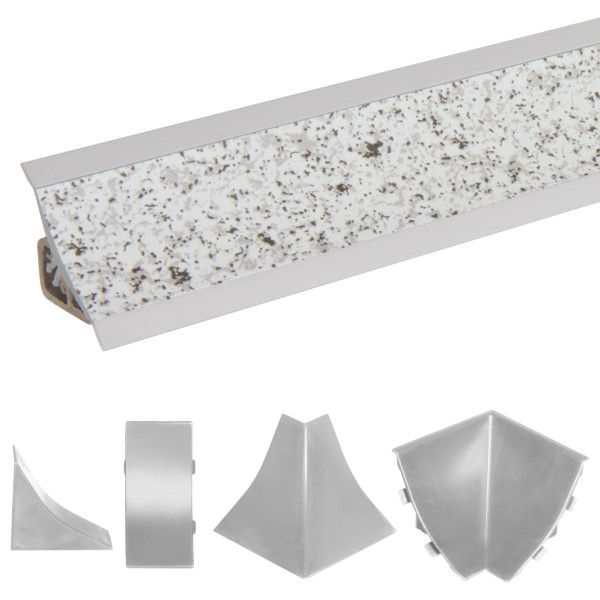 Küchenleiste 23x23mm Abschlussleiste Küche Arbeitsplatte - 632 Granit hell