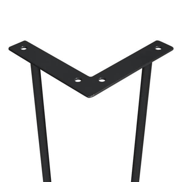 Haarnadel Tischbeine, 2-Stangen Bein, Tischkufen Tischfüße Hairpin Legs DIY, HLT-12A