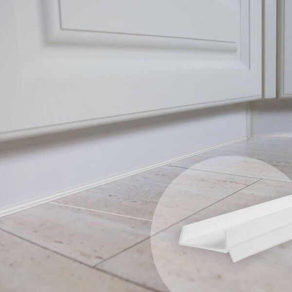 1,5m Küchensockel Abdichtungsprofil 15mm/16mm/17mm Küchensockeldichtung