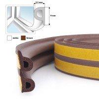 Vorschau: Fensterdichtung Gummidichtung selbstklebend braun P-Profil