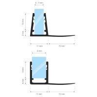 Vorschau: Duschdichtung UK02 Duschtürdichtung Duschkabinendichtung
