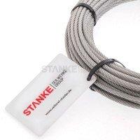 Vorschau: Rankhilfe Seilsystem SET 3: Stahlseil verzinkt + 8x Kausche + 16x Seilklemme