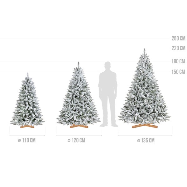 künstlicher Weihnachtsbaum FICHTE Natur-Weiss mit Schneeflocken