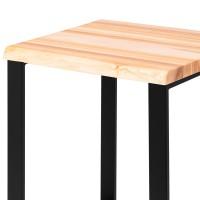 Vorschau: Kleiner Esstisch oder Schreibtisch mit Baumkante (60x60x76)
