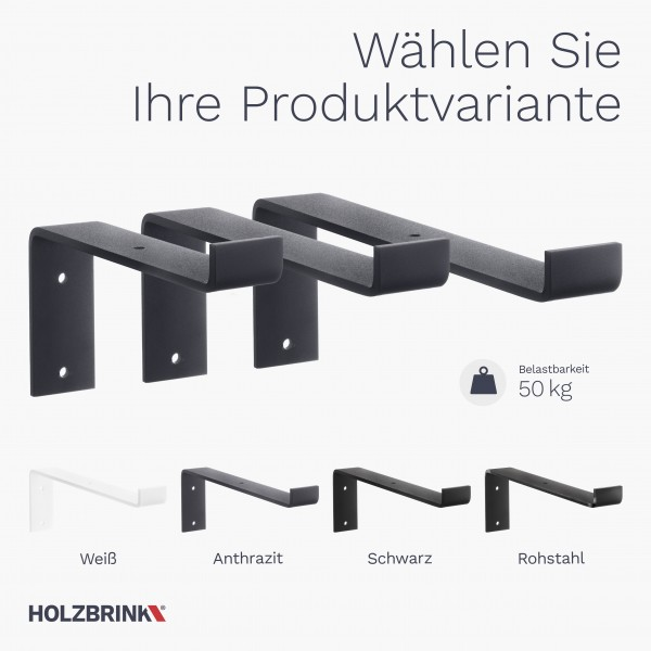 Regalträger für Wandregal, Wandhalterung HLR-Z