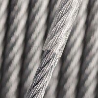 Vorschau: PVC Edelstahlseil Stahlseil 4mm (3mm Draht + 1mm PVC) 7x7 INOX V4A