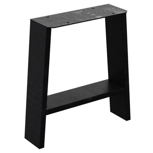 Design Tischkufen A-Form aus Vierkantprofilen 100x20 mm, a-förmiges Tischgestell Tischbeine HLT-16-A
