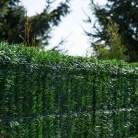 """Vorschau: Zaunblende Dunkelgrün """"GreenFences"""" Balkonblende für 190cm hohen Zaun / Balkon Sichtschutz Pflanze"""