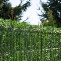 """Vorschau: Zaunblende Hellgrün """"GreenFences"""" Balkonblende für 160cm hohen Zaun / Balkon Sichtschutz Pflanzen"""