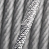 Vorschau: PVC Stahlseil 2mm (1mm Draht + 1mm PVC) 1x19 Drahtseil PVC ummantelt