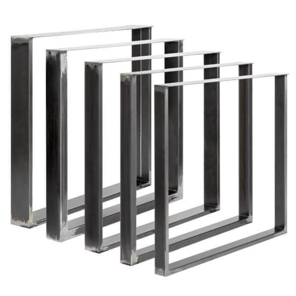 Tischkufen aus Vierkantprofilen 100x20 mm und Flacheisen 3 mm, Tischgestell, 1 Stück, HLT-02-A