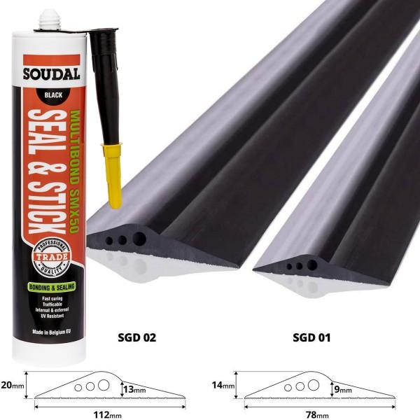 Montagekleber Soudal Multibond SMX 50 Industriekleber zum Abdichten 290 ml, schwarz