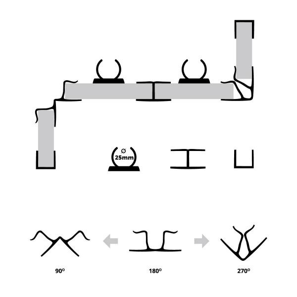 Sockelblende Küche Sockelleiste - Alu gebürstet - HBK Küchensockel Sockelprofil Sockelabdichtung