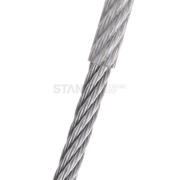 PVC Stahlseil 2mm (1mm Draht + 1mm PVC) 1x19 Drahtseil PVC ummantelt