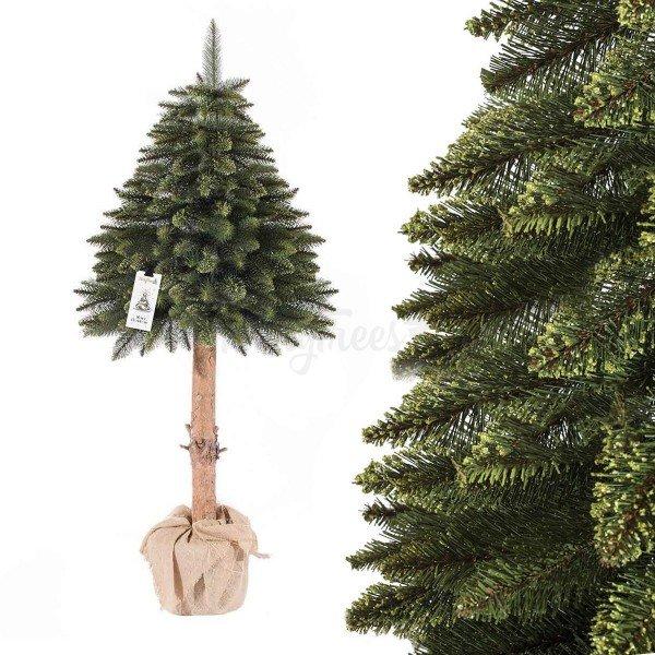 Künstlicher Weihnachtsbaum im Topf FICHTE NATURSTAMM grün
