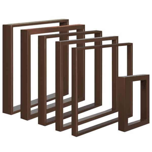 Design Tischkufen aus Vierkantprofilen 60x30 mm, Tischgestell, Tischbeine HLT-01-D