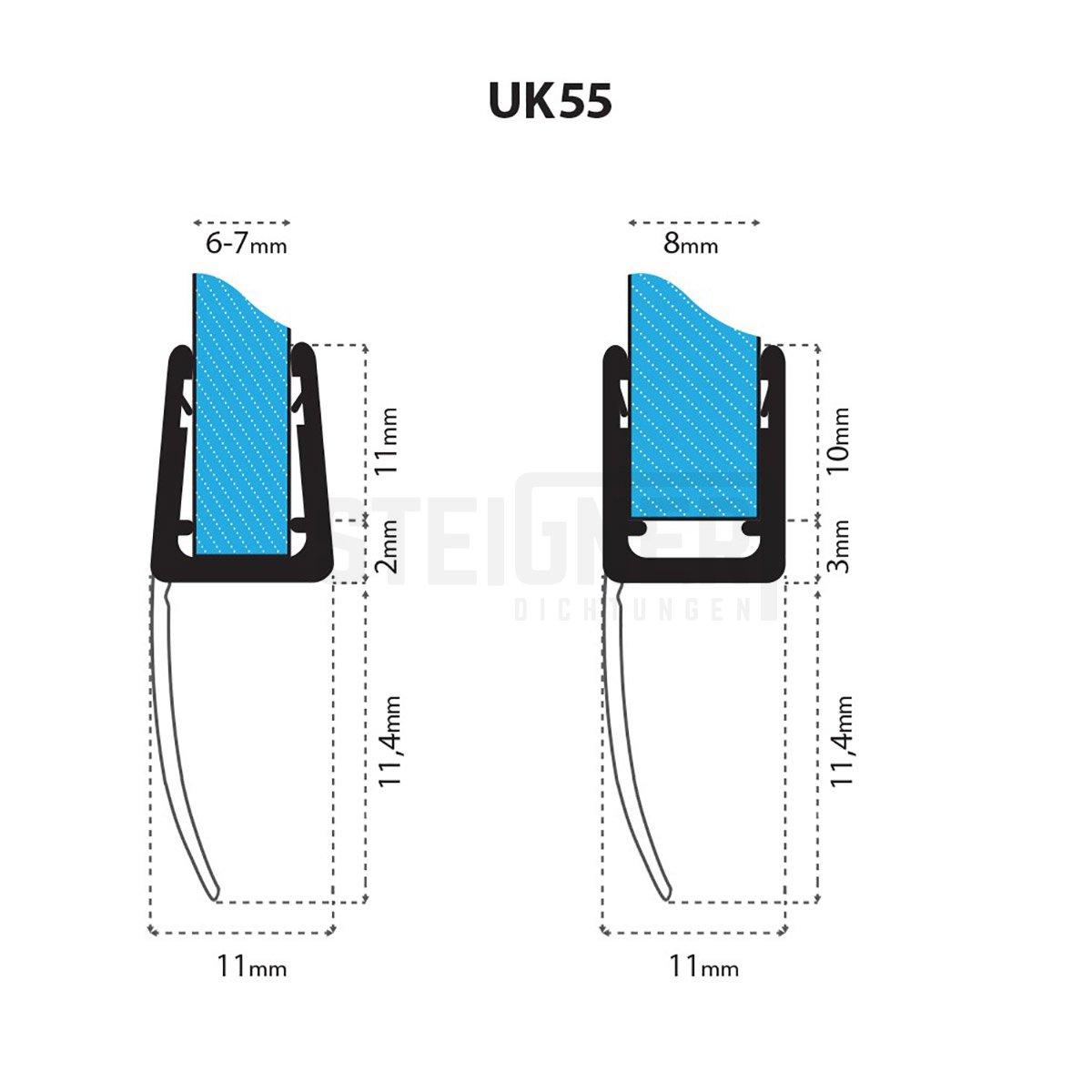duschdichtung-UK55-tech-steigner