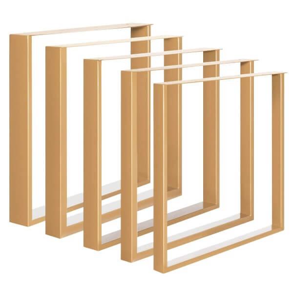 Design Tischkufen aus Vierkantprofilen 80x40 mm und Flacheisen 3 mm, Tischgestell HLT-02-B